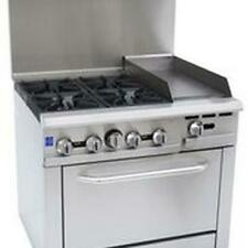 Falcon Food Service 36 4 Burner Gas Range With 12 Right Side Griddle Amp Oven