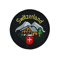 Swiss Alps Cabin switzerland Patch Country Vacation Souvenir Iron-on Applique