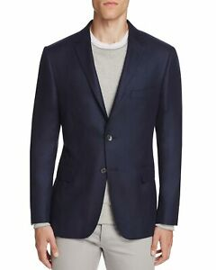Hickey-Freeman-Men-039-s-Perry-Cashmere-Twill-Slim-Fit-Sportcoat-40-Short-40S-Navy