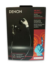 Denon AH-C400 Music Maniac Black In-Ear Headphones NEVER OPENED RETAIL BOX