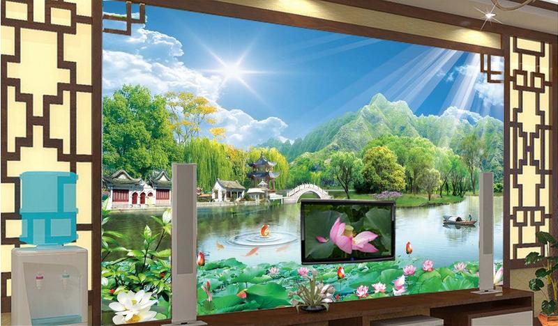 3D Landschaft Sonnige 7 Tapete Wandgemälde Tapete Tapeten Bild Familie DE Summer