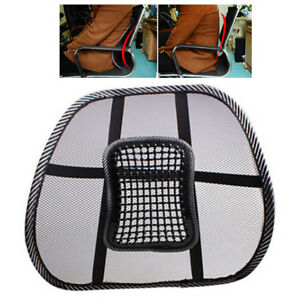 Image Is Loading Mesh Back Lumbar Support Vent Cushion Car Office