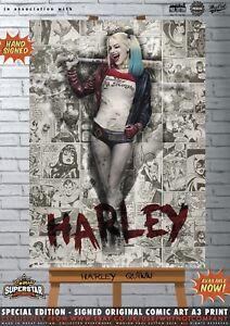 Harley-Quinn-Margot-Robbie-Sexy-Suicide-Squad-Batman-Comic-Superstar-A3-Print-DC