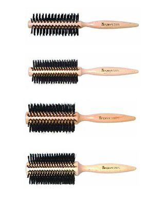 DENMAN Wooden Radial Bristle Curling Hair Brush *D32S, D32M, D32L, D32XL*