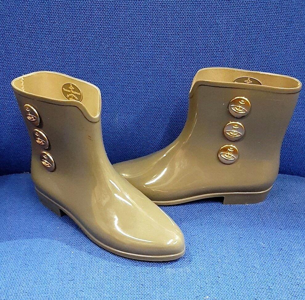 MELISSA GRIGIO Stivali Stivali Stivali Stivali Di Gomma Scarpe Donna Usate Donna Taglia 6 39 Westwood   Area di specifica completa  26e109