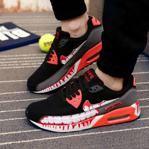 3 Colors Men's Fashion Sports Shoes Breathable Running Sneakers Athletic Size