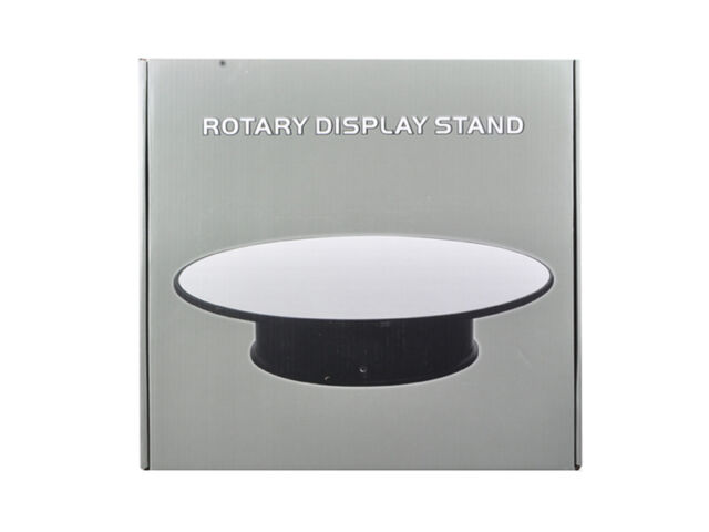 """Rotary 12"""" Display Stand for Model Cars w/ Mirror Top - 88012"""