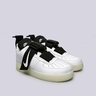 WomenMen Outlet Nike Air Force 1 Utility QS WhiteBlack AV6247 100