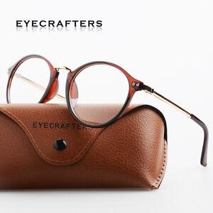 Spectacles-Clear-Lens-Eyewear-New-Vintage-Round-Eyeglass-Frame-Glasses-Retro