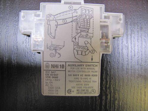 Klöckner /& Möller NHI 10 Hilfsschalter für Motorschutzschalter PKZM1
