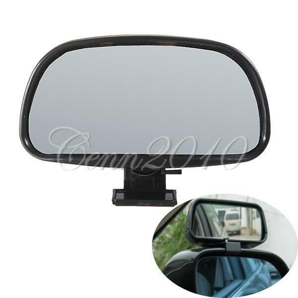 Black Auxiliary Blind Spot In Wide View Mirror Rearview With Small Side 2nd Clip