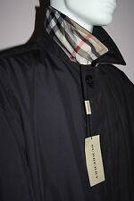 NWT Mens Burberry London $1200 Dark Navy Blue Coat Size XL