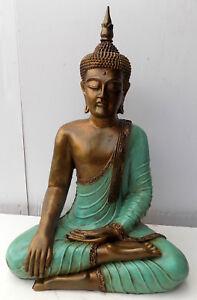 Other Asian Antiques Buddha Thai Cm 65 In Resina Origine Indonesia Shiva Ganesh Divinità Turchese Bright And Translucent In Appearance Antiques