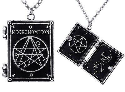 Necronomicon Buch Medaillon Kette Locket H.P. Lovecraft Gothic Magie Black Magic
