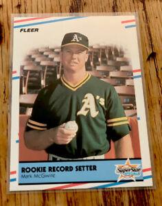 1988 Mark McGwire Fleer Rookie Record Setter Instert #629 Sharp Corners A's