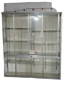 Glass Store Display Showcase Glass Doors + Shelves 83x69.5x19 in PICKUP ONLY