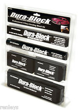 Dura Block AF44A 6 Piece Sanding Block Set. Kit Car Auto Body Work Sander Black