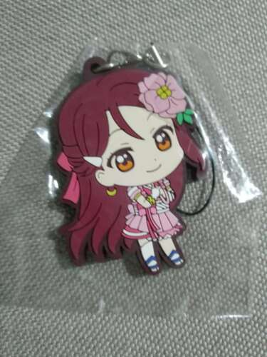 Sunshine Aqours Sakurauchi Riko Keychain Keyring Rubber Strap Charm Lovelive