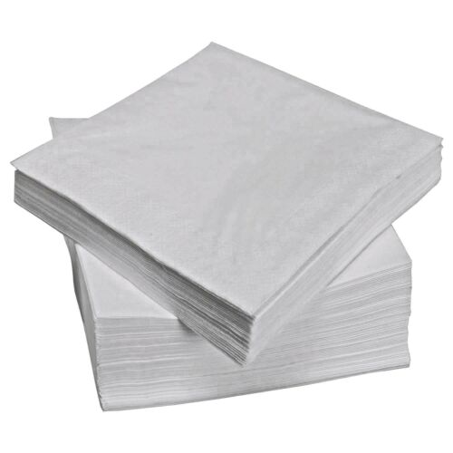 2000 White 2 Ply Paper Napkins Serviette 40cm Restaurant Takeaway Catering Party