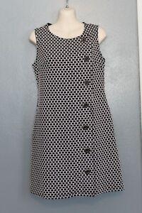 e0765185481 Image is loading Tabitha-Anthropologie-Black-amp-White-Jumper-Dress-2