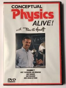 Conceptual Physics Alive Vol 7 DVD Heat Temperature Expansion Paul Hewitt