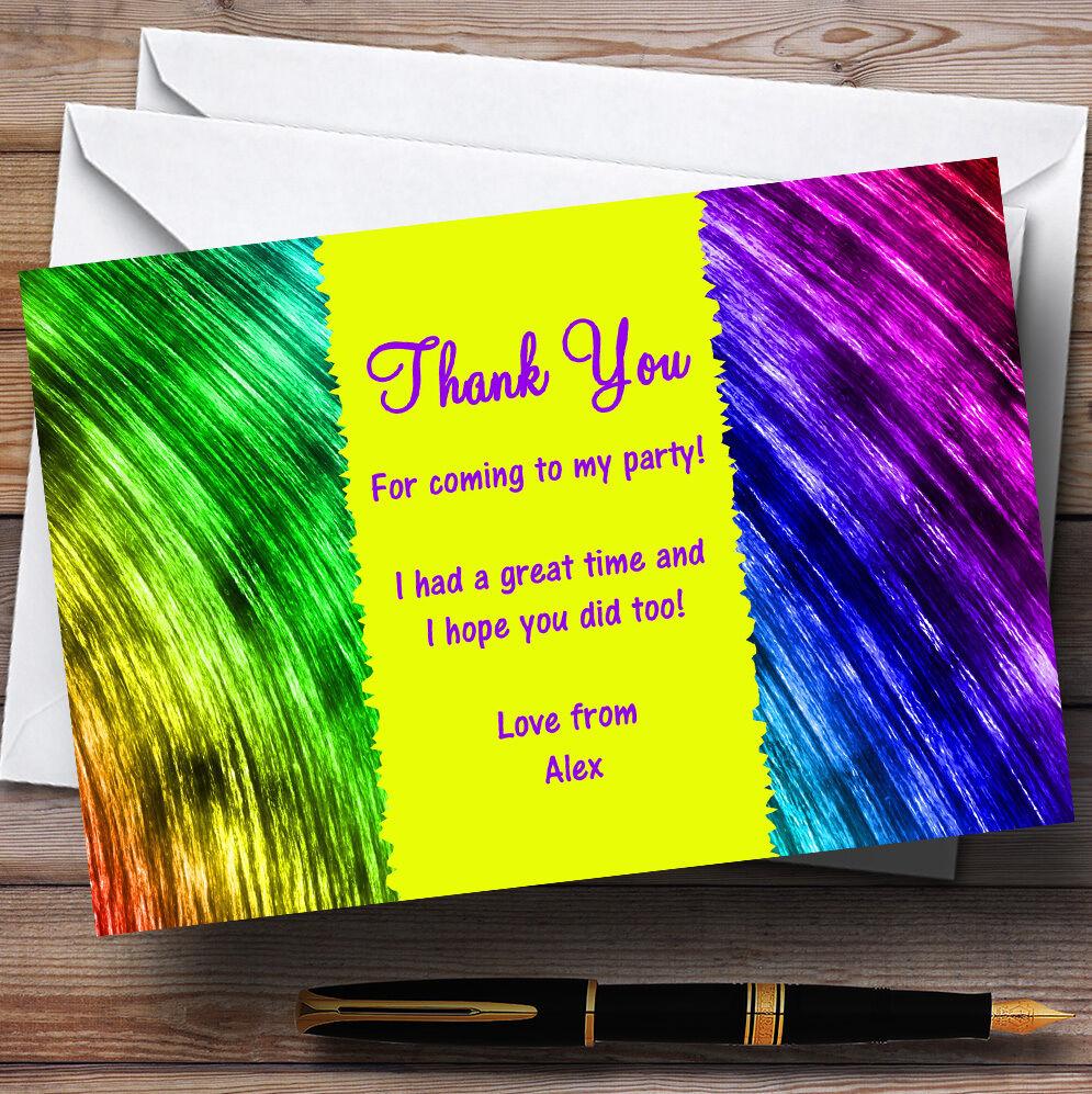 Arco Iris Pinturas Personalizado Fiesta Tarjetas De Agradecimiento