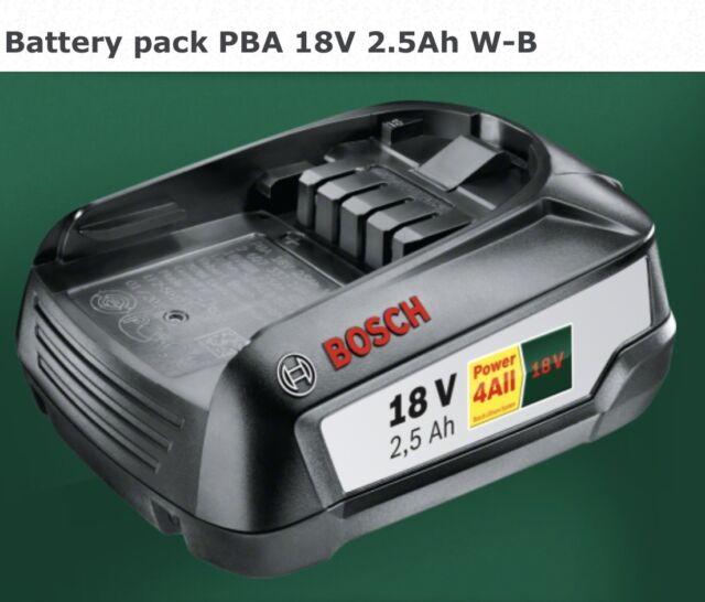 savers Bosch GREENTOOL 18V 2.5AH Lithium ION Battery 1600A005B0 3165140821629 SD