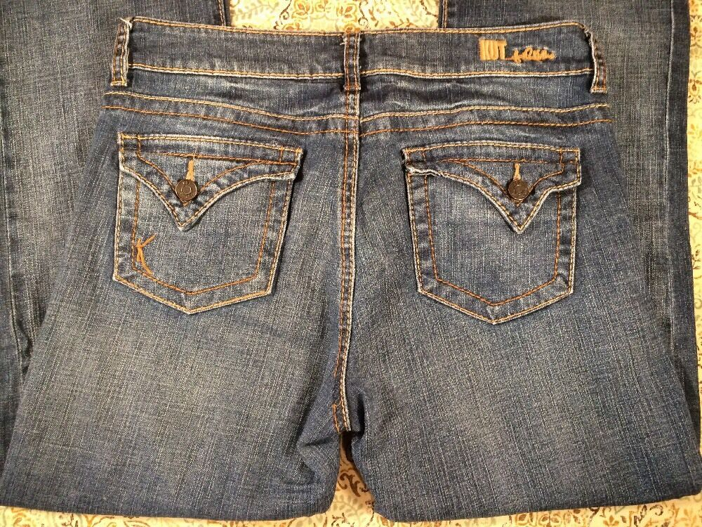Kut From The Kloth Womens Designer bluee Jeans Size 8 Boot Cut Sexy Western Cute