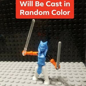 Custom Cast in random color Ahsoka figure Compatible with Starwar Mega Construx