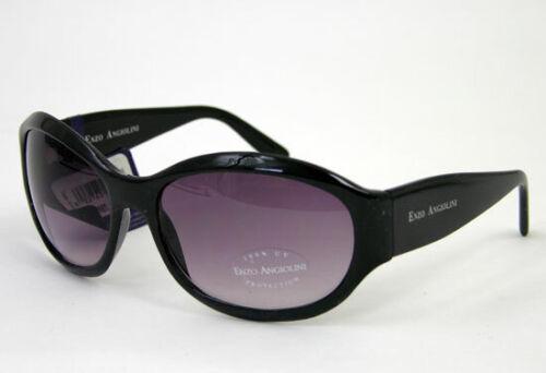 Enzo Angiolini Sunglasses Black Frame Large Round Purple Gradient Lens 100/% UV