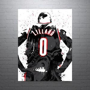 Damian-Lillard-Portland-Trailblazers-Poster-FREE-US-SHIPPING