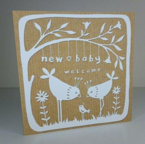 Vierge à l/'intérieur Carte de Vœux-Bienvenue Neuf Bébé Fille ou Garçon