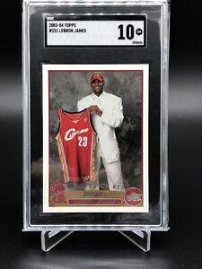 2003-04-Topps-221-LeBron-James-RC-Rookie-SGC-10