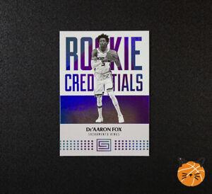 2017-18 Status De'Aaron Fox Rookie Credentials Card 16 Sacramento Kings RC