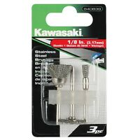 Kawasaki® 3 Pc Ss Wire Brush Set For Rotary Tools - 840839 on Sale