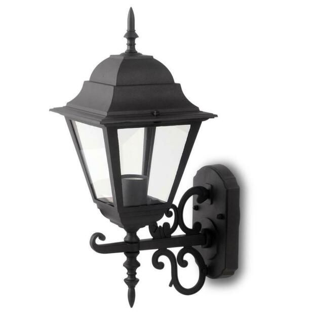 LAMPADA GIARDINO DA PARETE E27 MATT NERO GRANDE - 006343