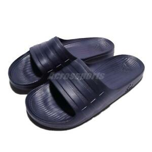 a9e84941084bf adidas Duramo Slide Blue Navy Rubber Men Sports Sandal Slippers ...