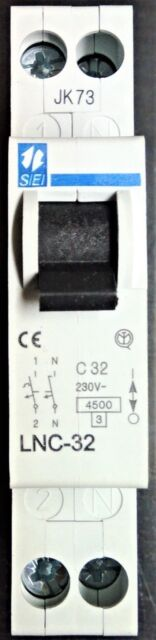 Interruttore automatico 25A 1 modulo SIEI 4500K 1 polo neutro stok 6 pezzi