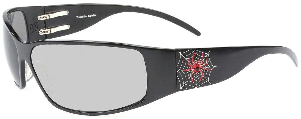 NEW Outlaw Eyewear Tornado Spider DARK TRANSITION Lens Aluminum Sunglasses