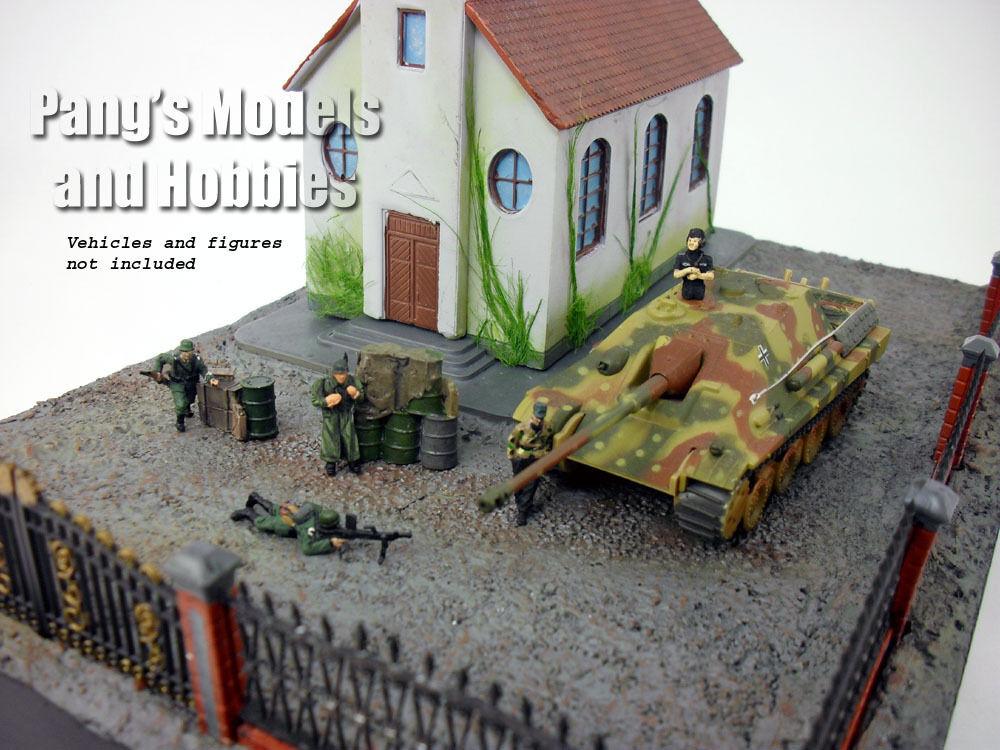 Guerre mondiale deux diorama – église Set F-malinava-Échelle 1 72 Polystone Résine Modèle par PMA