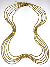 VINTAGE CHRISTIAN DIOR GOLD-PLATED SWAG BELT (SZ SMALL) OR NECKLACE
