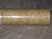 Sanitas Brown Leaf Scroll Wallpaper Roll Nip