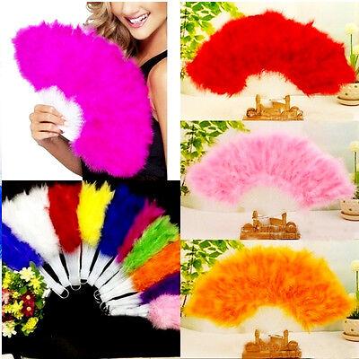 Costume Fluffy Feather Fan Burlesque Moulin Rouge Fancy Dress Marabou Soft Paris