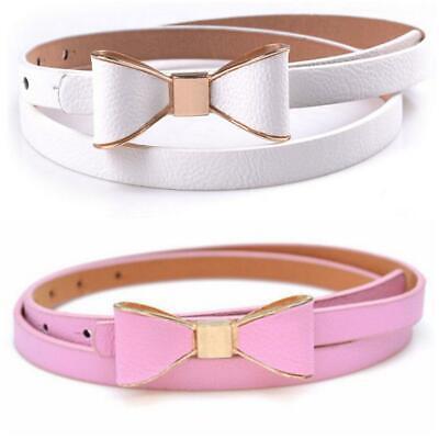 2 Damen Gürtel mit Schleife weiß rosa 2er Set Mädchen Taillengürtel Rockabilly