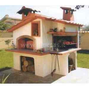 Forno e barbecue a legna francia cm180x200x260h completo - Barbecue e forno da giardino ...