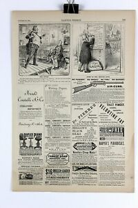 Authentic 1884 Wood Engraving Satire Ad By Thomas Nast Misc