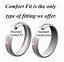 Tungsten-Carbide-Classic-Silver-Wedding-Band-Men-Women-Engagement-Bridal-Ring thumbnail 7