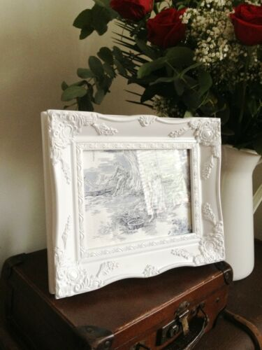 "ORNATE PICTURE FRAME ANTIQUE BLACK IVORY GOLD SILVER OR WHITE 8/"" x 10/"" or 6/""x8/"""
