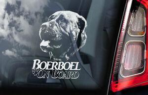 Boerboel-On-Board-Auto-Finestrino-Adesivo-South-African-Mastino-Cane-V09