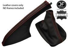 Red Stitch Leather Shift Amp E Brake Boot Fits Vw Golf Mk3 Vento Jetta 91 98 Fits Jetta